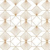 Vector art: decorative golden, retro , vintage pattern.