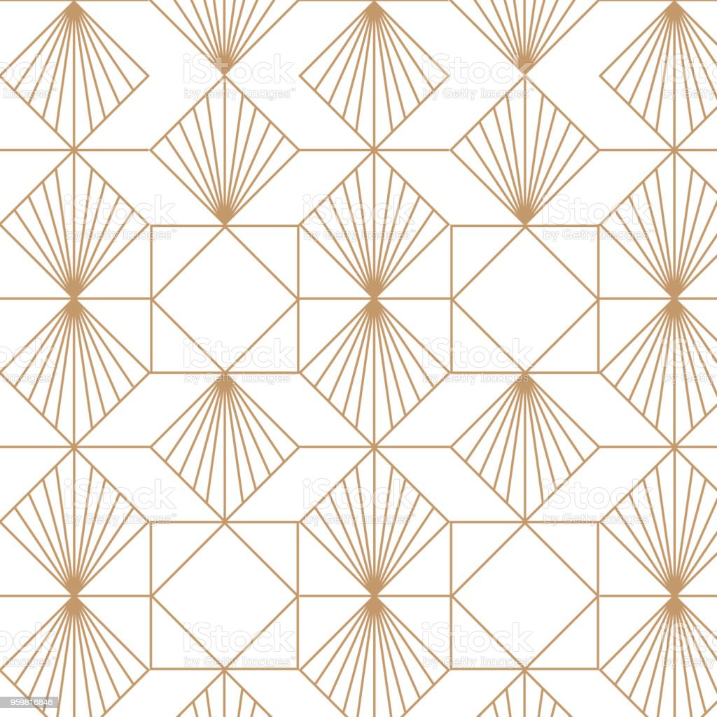 Art deco, elegant, decorative background pattern. vector art illustration
