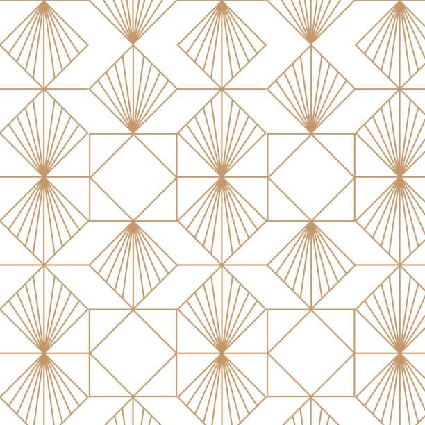 art deco, elegant, decorative background pattern. - art deco stock illustrations, clip art, cartoons, & icons