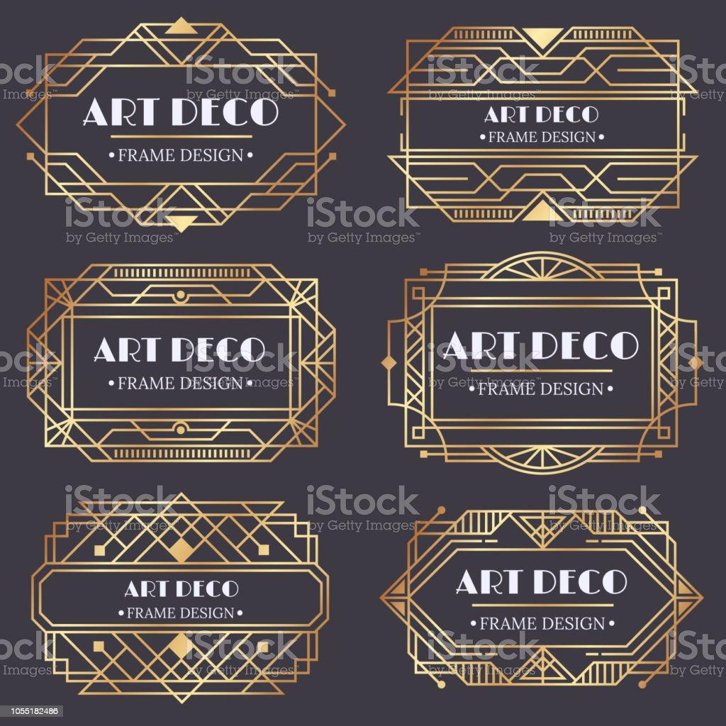 Artdécorahmen Antike Golden Label Design Luxus Gold