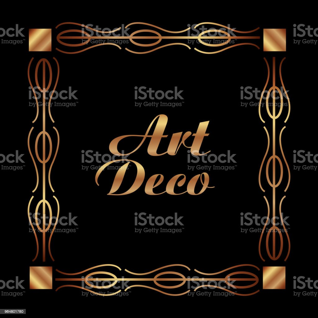 art deco frame elegant decorative square style royalty-free art deco frame elegant decorative square style stock vector art & more images of abstract