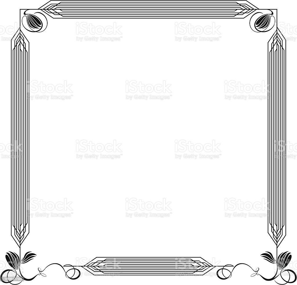 Art Deco Frame vector art illustration