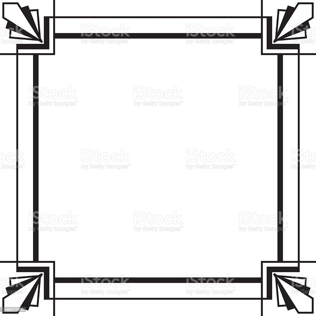 Art deco frame stock vector art 486977900 istock for Art et decoration download
