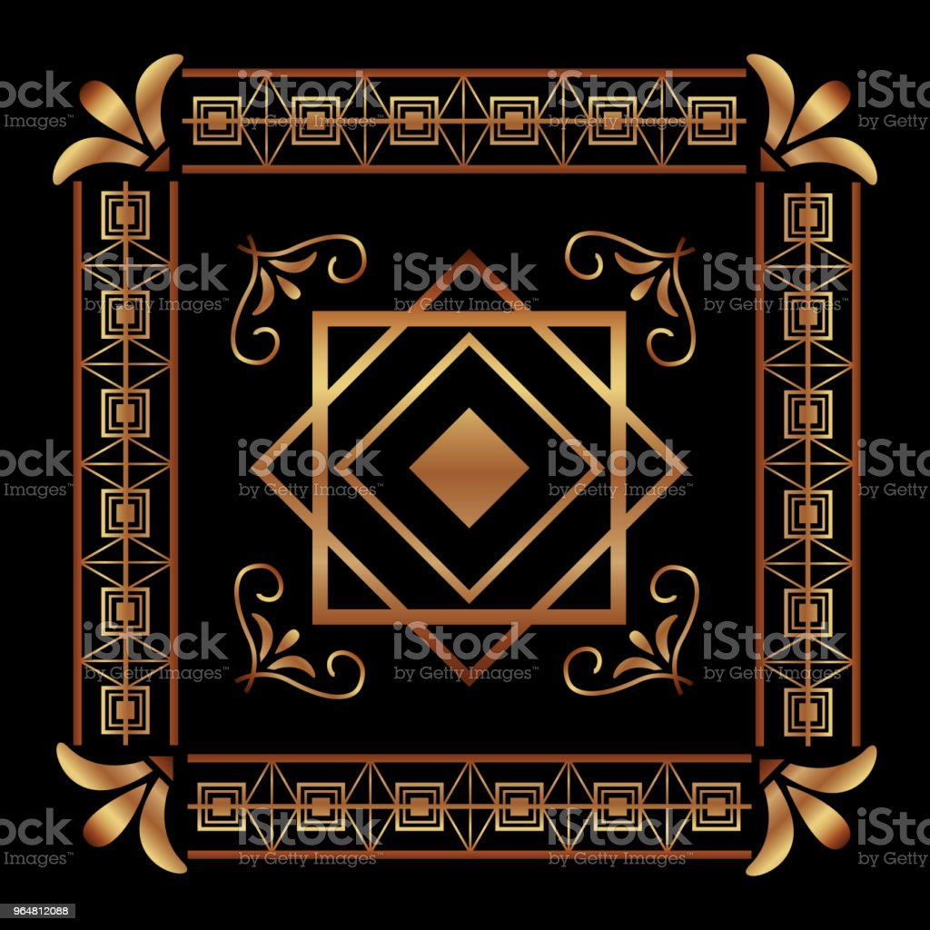 art deco frames and borders royalty-free art deco frames and borders stock illustration - download image now