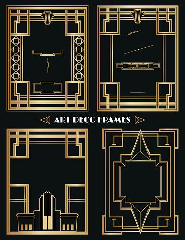 Art Deco Frames and Ornament Set