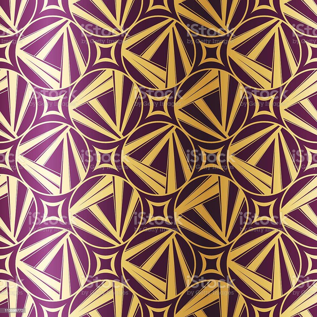 Art Deco geometric seamless pattern royalty-free stock vector art