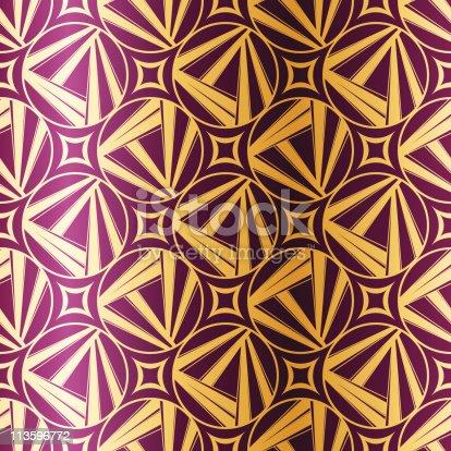 istock Art Deco geometric seamless pattern 113596772
