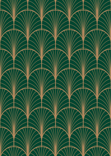 art deco geometric seamless vector pattern. - peacock stock illustrations