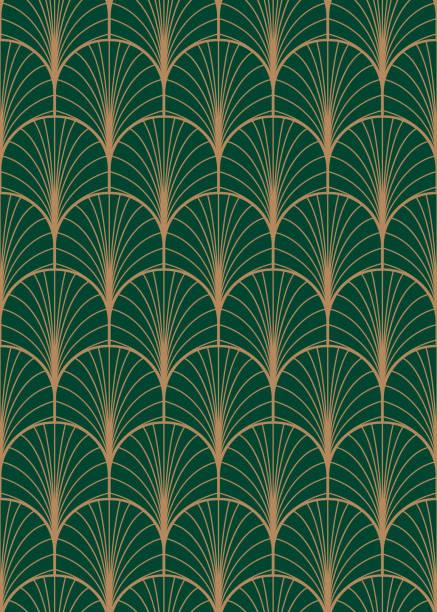 art deco geometric seamless vector pattern. - living organism stock illustrations