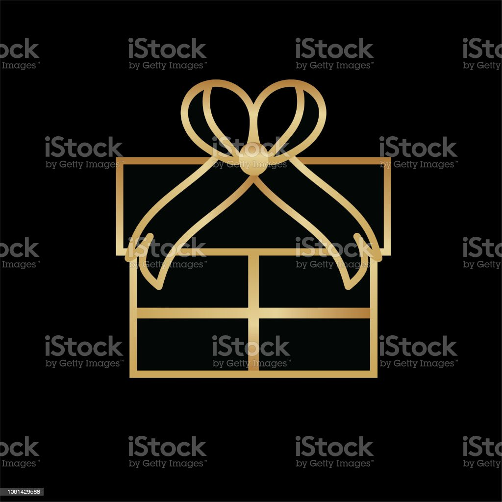 Art Deco Gift Icon Stock Vector Art More Images Of Abstract