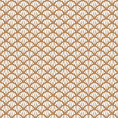 Art deco gold and white fish scale geometric style pattern