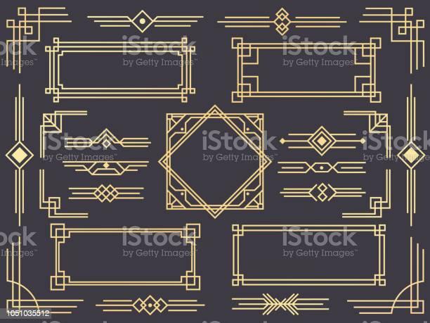 Art deco line border modern arabic gold frames decorative lines and vector id1051035512?b=1&k=6&m=1051035512&s=612x612&h=zhg3o ksjz8lvtndbhlrbbkl8ugmzmsbbgaeegzweq8=