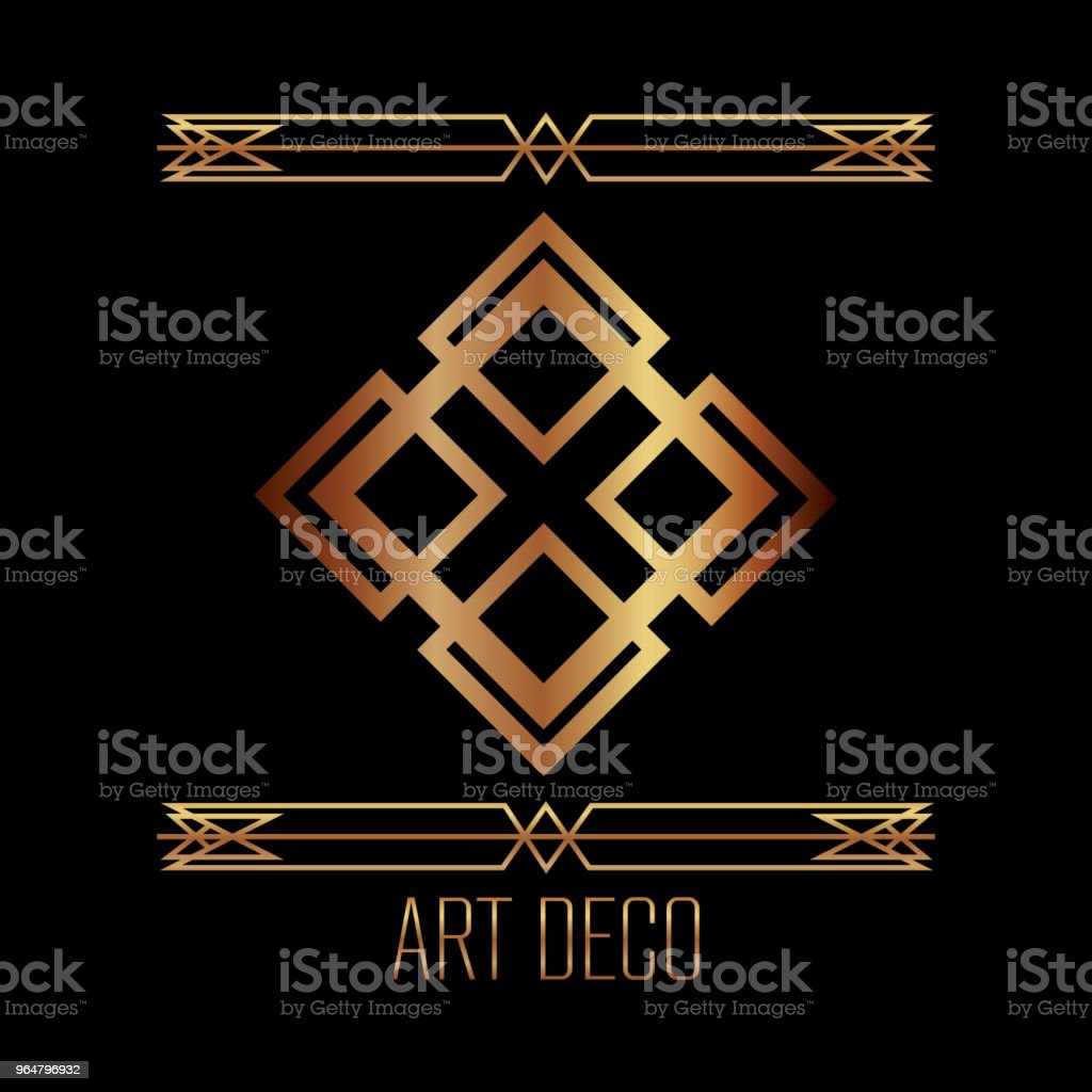 art deco luxury elegant vintage ornament golden royalty-free art deco luxury elegant vintage ornament golden stock vector art & more images of abstract