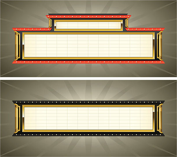 Best Theatre Marquee Illustrations, Royalty-Free Vector ...
