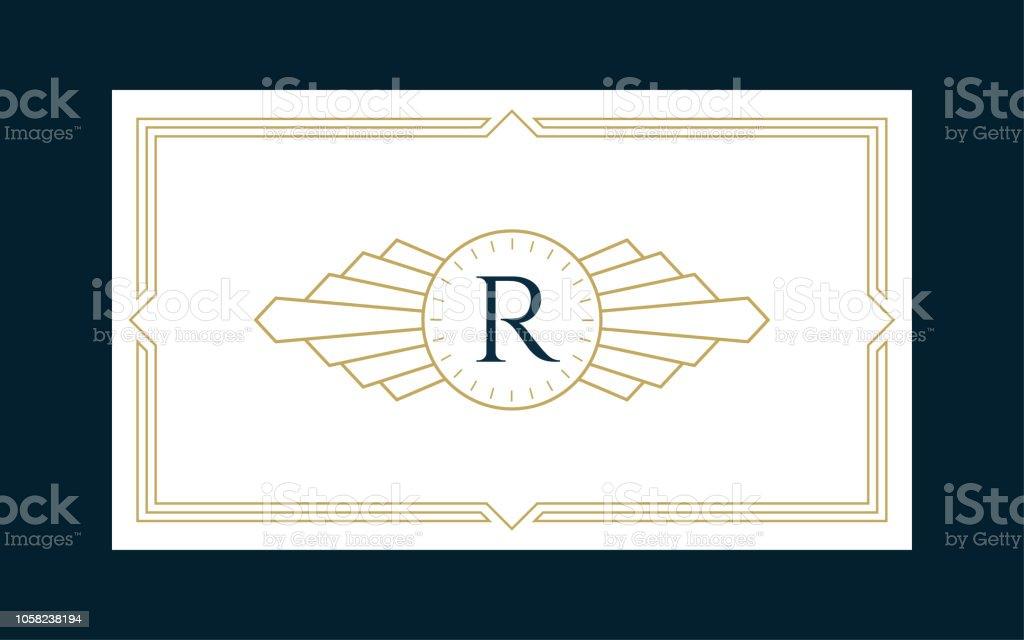 Art Deco Monogram Business & Invitation Card