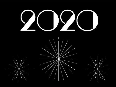 Art Deco New Year Card