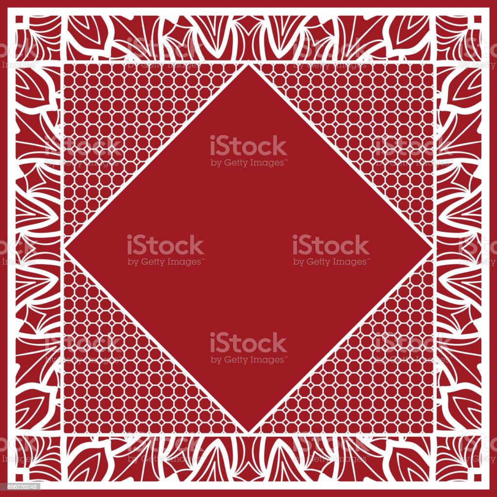 Ornement De Style Art Deco Avec Lhexagone Impression Sur Tissu Avec