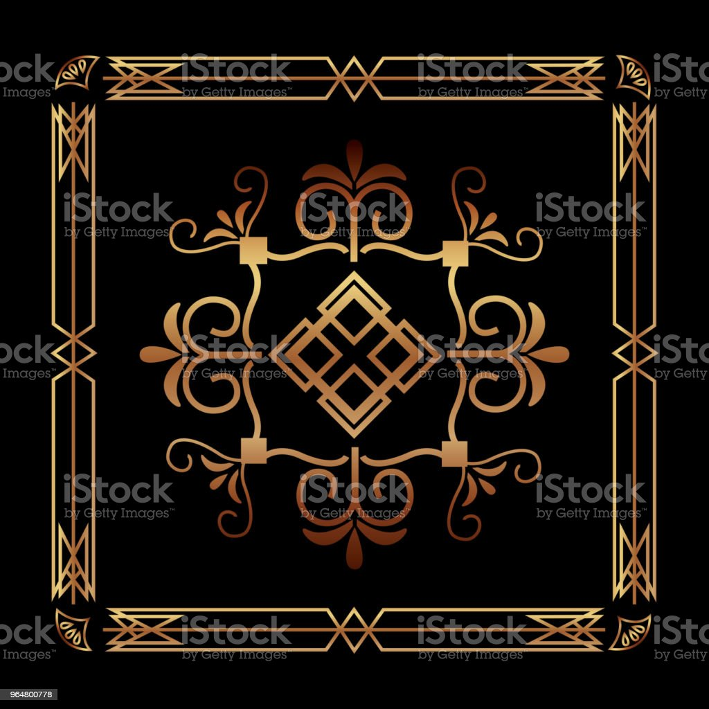 art deco ornamental decorative frame floral template royalty-free art deco ornamental decorative frame floral template stock vector art & more images of abstract