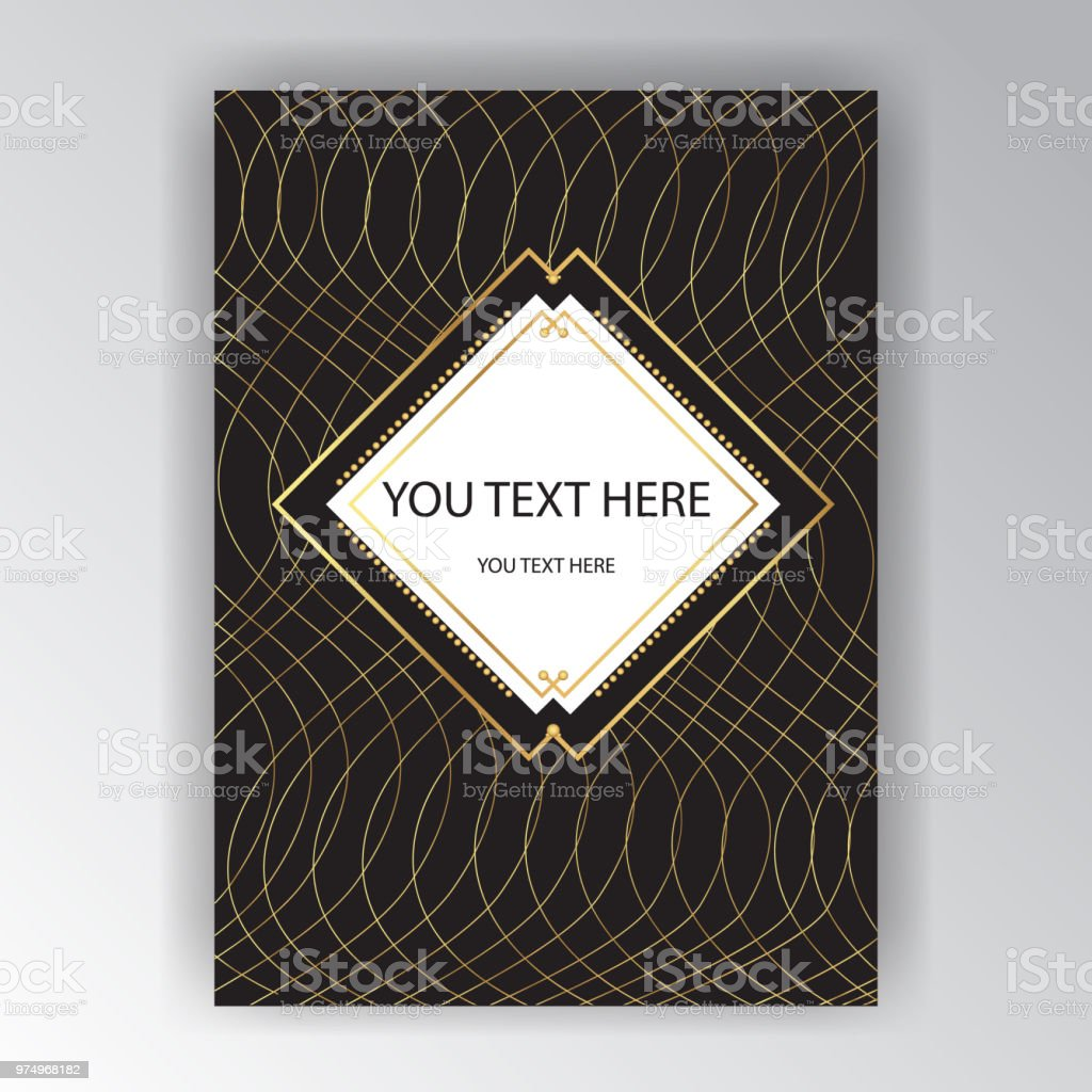 Art Deco Page Template Stock Vector Art & More Images of 1920-1929 ...