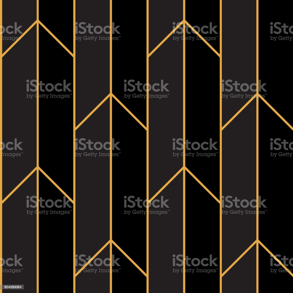 Art Deco Pattern Gold Straight Lines vector art illustration