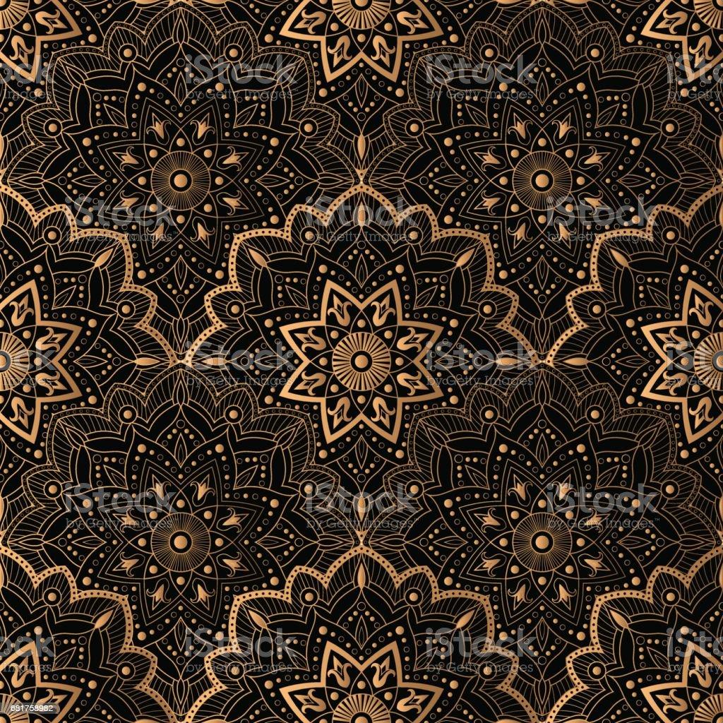 Art Deco pattern seamless vector - arte vettoriale royalty-free di 1920-1929
