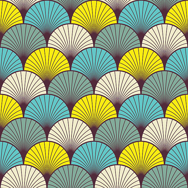 art deco pattern - 1940s style stock illustrations, clip art, cartoons, & icons