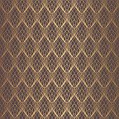 Art Deco Pattern. Seamless golden background. Minimalistic geometric design. Vector line design. 1920-30s motifs. Luxury vintage illustration