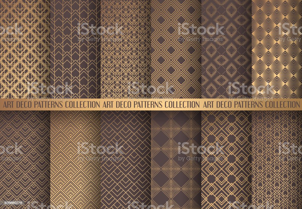 Art Deco Patterns Set vector art illustration