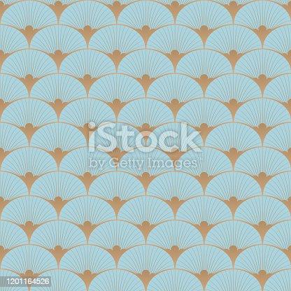 istock Art deco, roaring 20s, Great Gatsby vector pattern. 1201164526