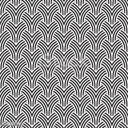 Art Deco seamless geometric pattern background texture