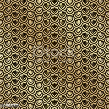 Art Deco seamless geometric pattern background texture
