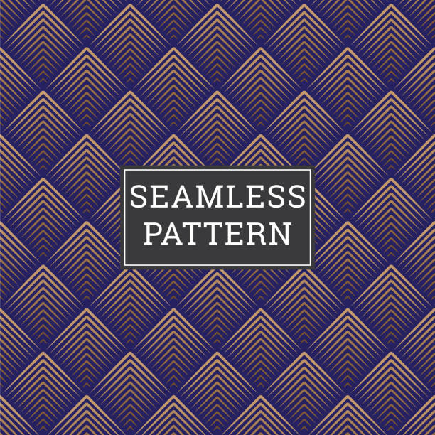 Art Deco Seamless Geometric Pattern vector art illustration