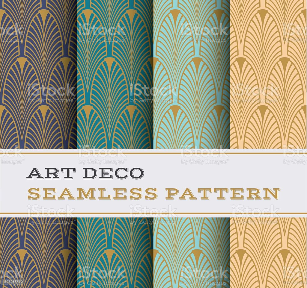 Art Deco seamless pattern 01 vector art illustration