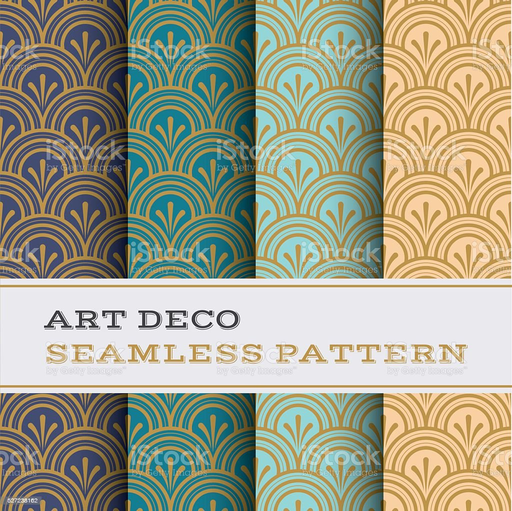 Art Deco seamless pattern 04 vector art illustration