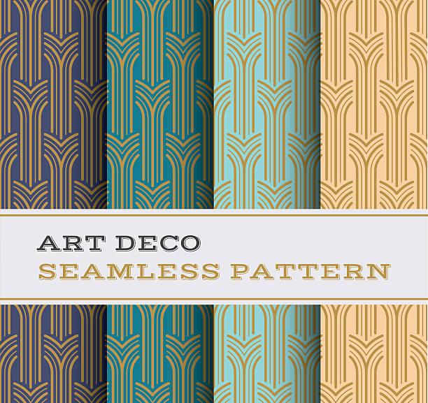 Art Deco seamless pattern 05 vector art illustration