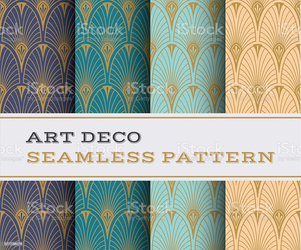 Art Deco seamless pattern 07 vector art illustration