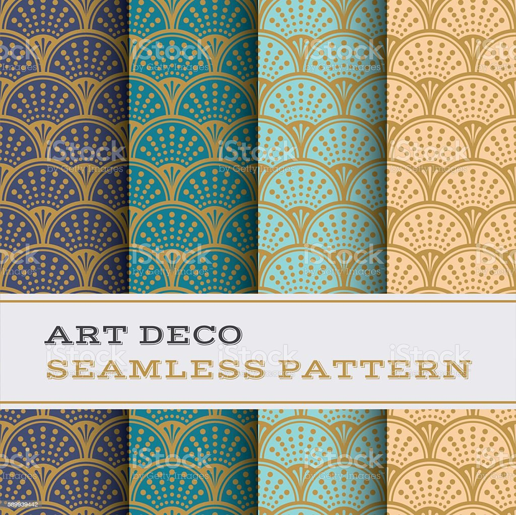 Art Deco seamless pattern 09 vector art illustration