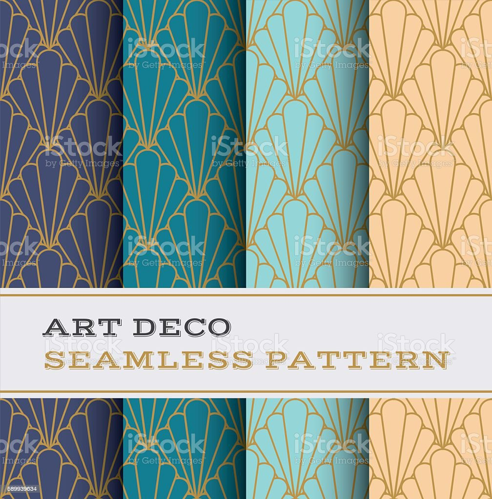 Art Deco seamless pattern 11 vector art illustration