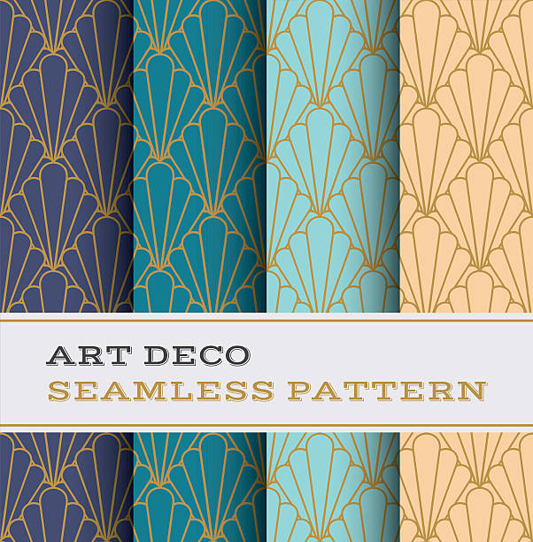Art Deco seamless pattern 11 vector art illustration