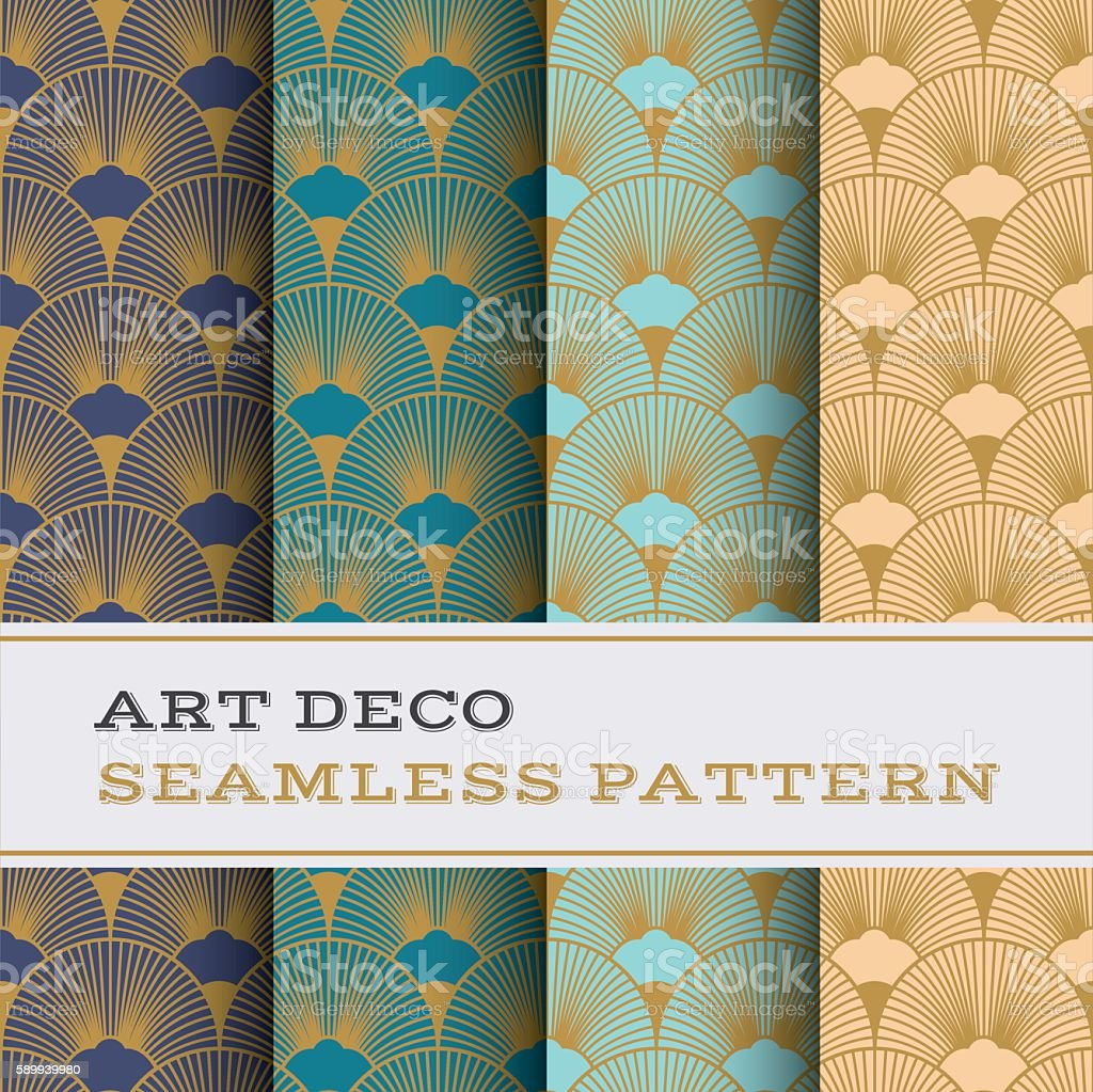 Art Deco seamless pattern 15 vector art illustration