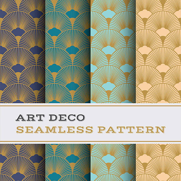 art deco seamless pattern 15 - 1920s style stock illustrations, clip art, cartoons, & icons