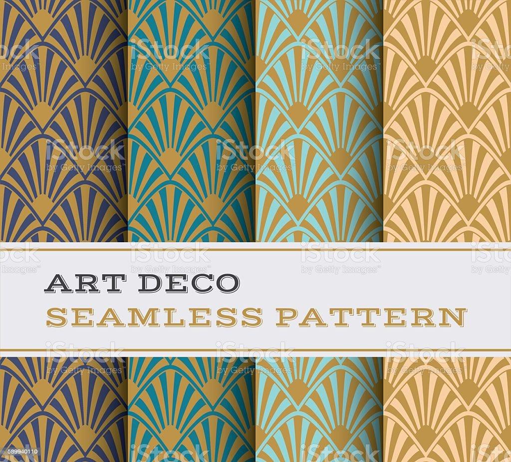 Art Deco seamless pattern 17 vector art illustration