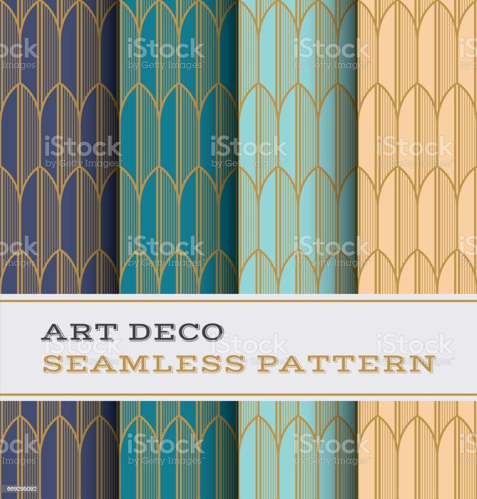 Art Deco seamless pattern 34 vector art illustration