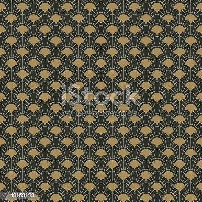 istock Art Deco Seamless Pattern 1143153123