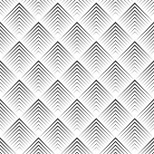 Art deco seamless pattern. Modern stylish texture. Regularly repeating geometrical pattern with thin corner lines, rhombuses. Vector abstract seamless background
