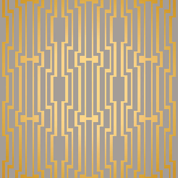 Art Deco seamless vintage vector wallpaper pattern Art Deco seamless vintage vector wallpaper pattern. crisscross stock illustrations