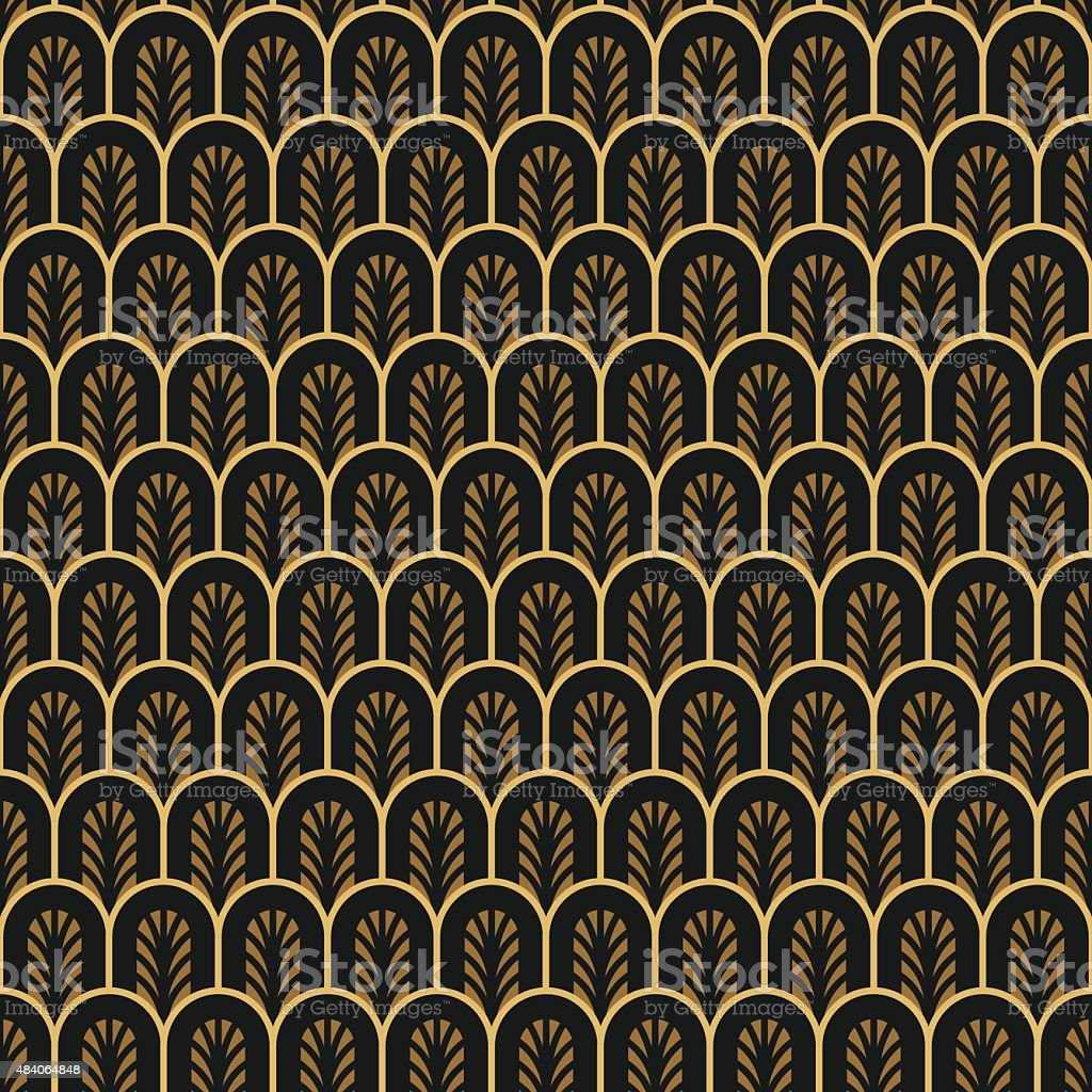 art deco seamless vintage wallpaper pattern stock vector art more images of 1920 1929. Black Bedroom Furniture Sets. Home Design Ideas