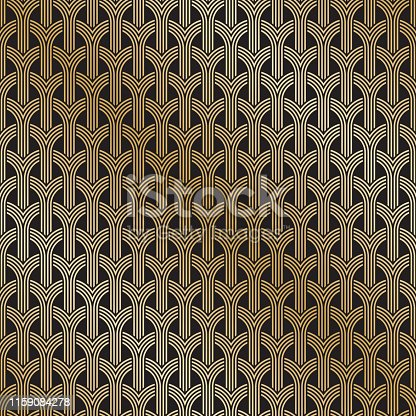 Art Deco seamless weave pattern background texture