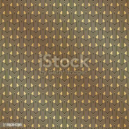 Art Deco seamless weave pattern background texture