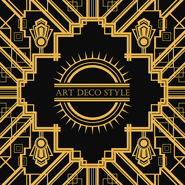 Royalty free roaring 20s clip art vector images - What is art deco style ...